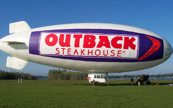 Outback Steakhouse Blimp